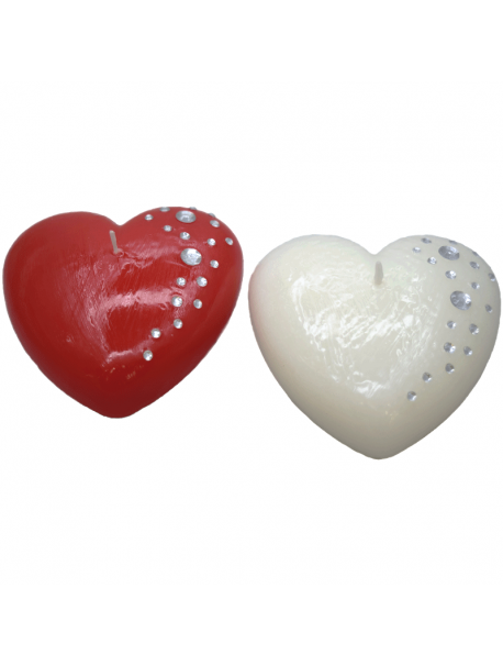 Candle Heart with Swarovski - Cereria Muto 1920