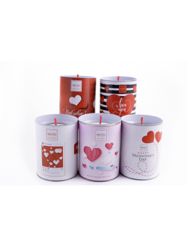 Scented candle in ecological paper - Aroma Passion (15 pcs mixed)